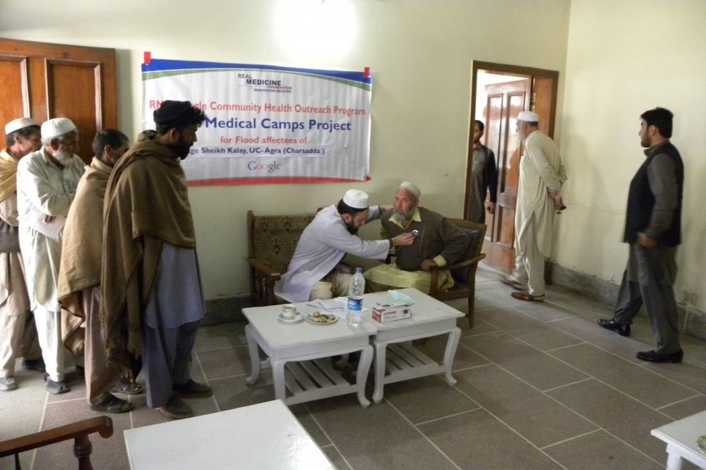 Medical camps for Pakistan flood victims (Credit: RMF)