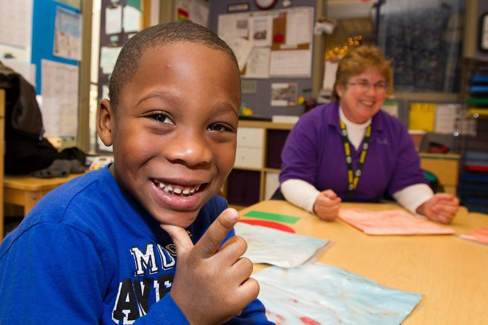 Participant in Next Door – Milwaukee, an early childhood education program funded by Bader Philanthropies