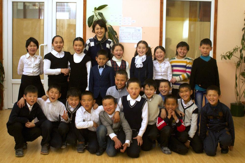 Bilimkana class and teacher.