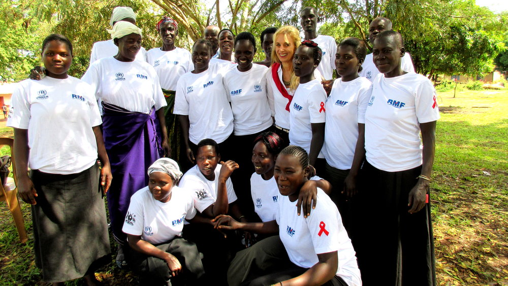 Kiryandongo Refugee Settlement, Uganda, on World AIDS Day (Credit: RMF)