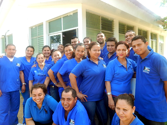 The staff of Roberto Clemente Health Clinic.