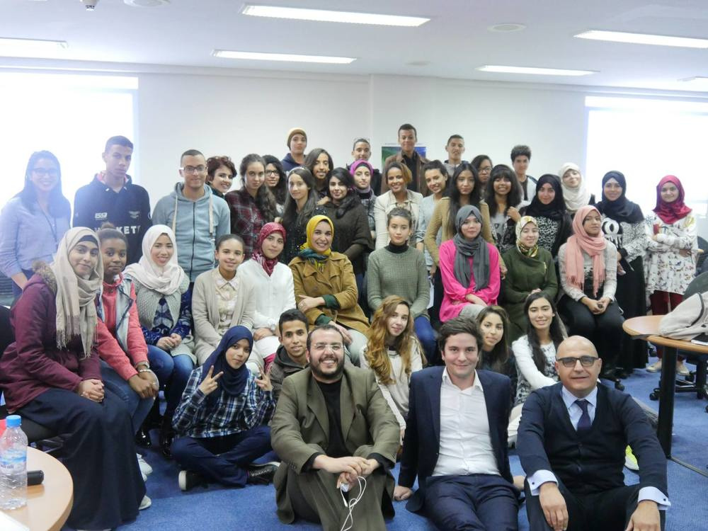 Arab Excellence participants at a program held at the Casablanca Stock Exchange.