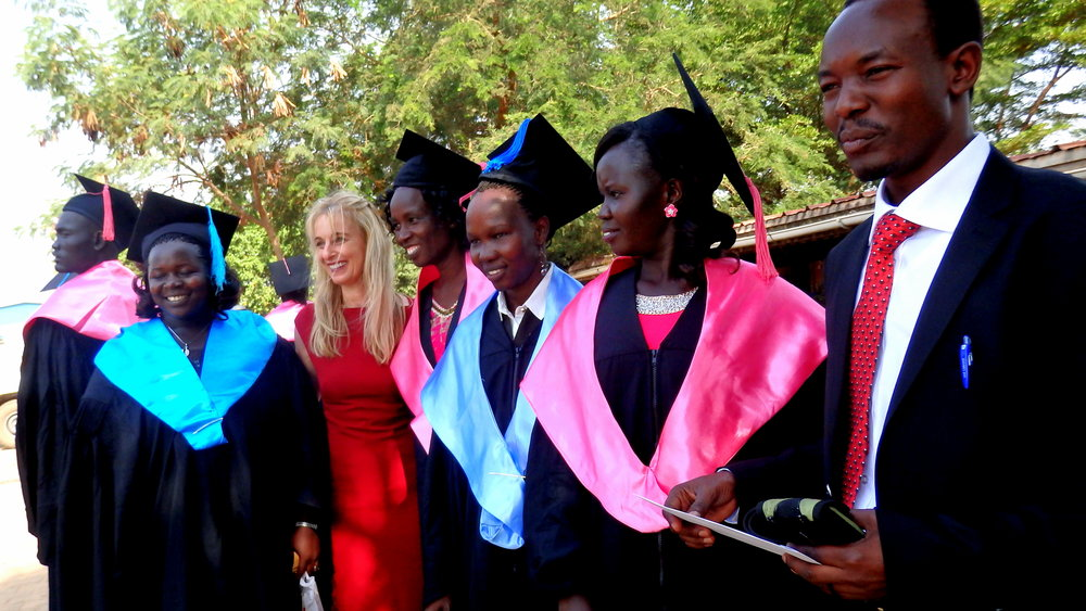 RMF team and graduates at the December 2015 graduation ceremony at Juba College of Nursing and Midwifery, South Sudan (Credit: RMF)
